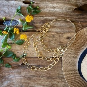 ⭐️Gold Multi-layer Statement NECKLACE